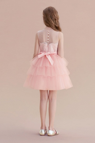 BMbridal A-Line Graceful Layered Tulle Flower Girl Dress Online_3
