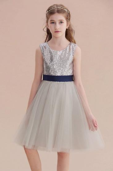 BMbridal A-Line Elegant Sequins Tulle Flower Girl Dress On Sale_7