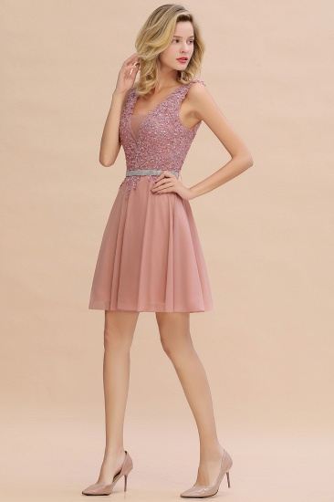 BMbridal Lovely Sleeveless Short Prom Dress Mini Homecoming Dress With Appliques_14