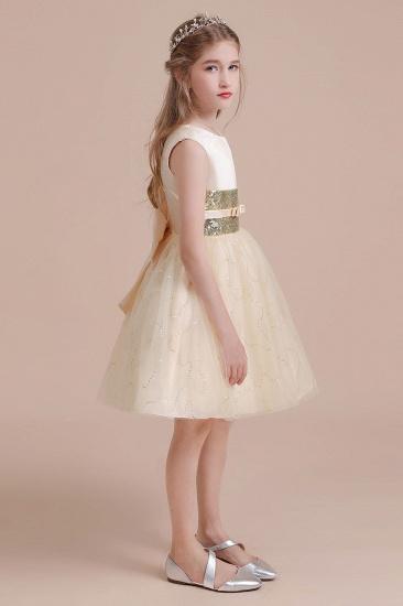 BMbridal A-Line Cute Sequins Tulle Flower Girl Dress Online_6