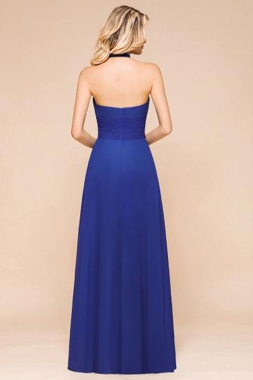 BMbridal Stylish Halter Backless Royal Blue Bridesmaid Dress Affordable with Ruffle_3