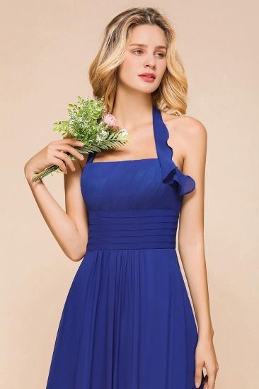 BMbridal Stylish Halter Backless Royal Blue Bridesmaid Dress Affordable with Ruffle_9