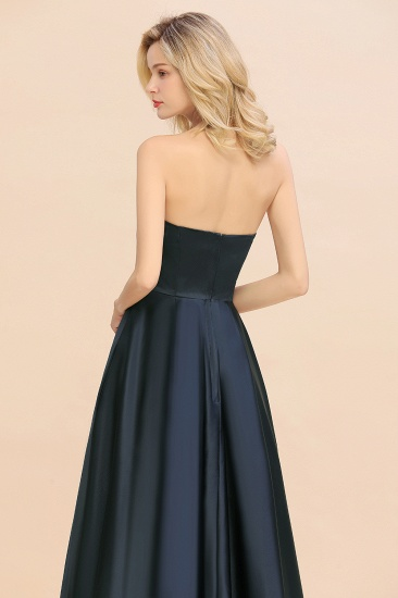 BMbridal Affordable Hi-Lo Strapless Satin Bridesmaid dresses Online_8