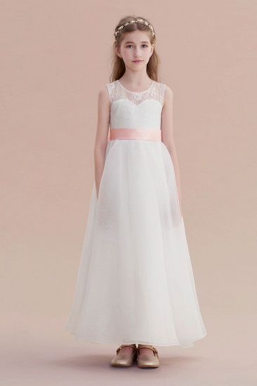 BMbridal A-Line Illusion Lace Tulle Flower Girl Dress Online_1