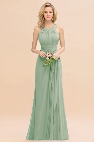 Elegant Round Neck Sleeveless Stormy Bridesmaid Dress with Ruffles_41