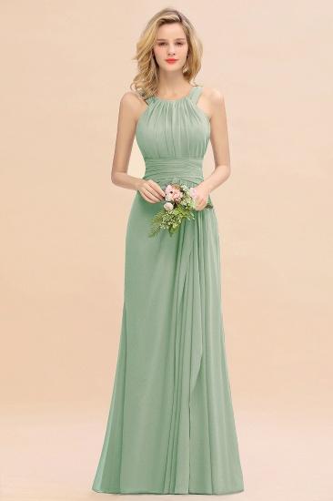BMbridal Elegant Round Neck Sleeveless Stormy Bridesmaid Dress with Ruffles_41