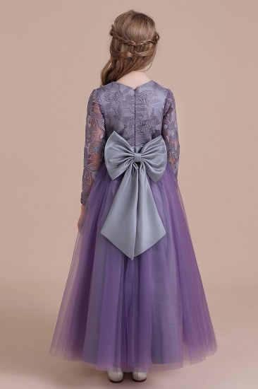 BMbridal A-Line Long Sleeve Ankle Length Flower Girl Dress On Sale_3