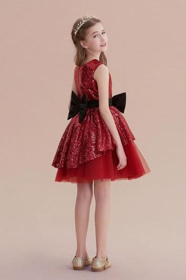 BMbridal A-Line Bows Sequins Tulle Flower Girl Dress On Sale_7