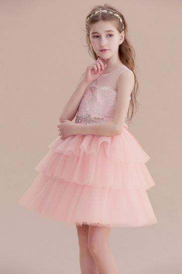 BMbridal A-Line Graceful Layered Tulle Flower Girl Dress Online_7