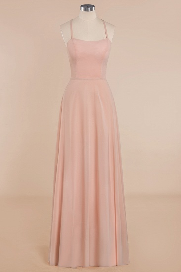 BMbridal Chic Straps Sleeveless Chiffon Affordable Bridesmaid Dresses with Ruffle_1