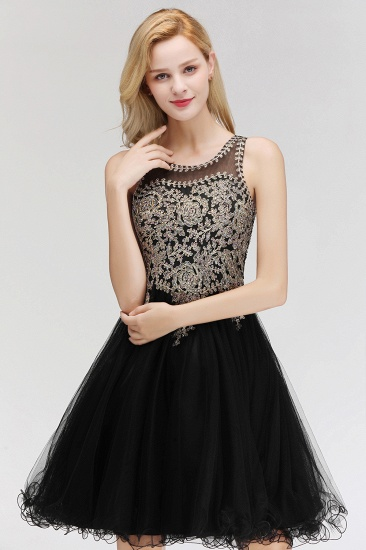 BMbridal A-line Tulle Lace Homecoming Dress with Beadings_8