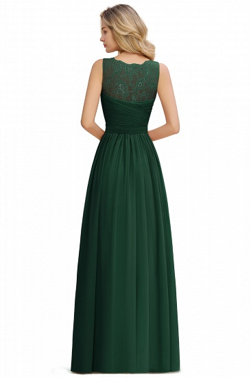 BMbridal A-line Chiffon Lace V-Neck Ruffles Bridesmaid Dress_16