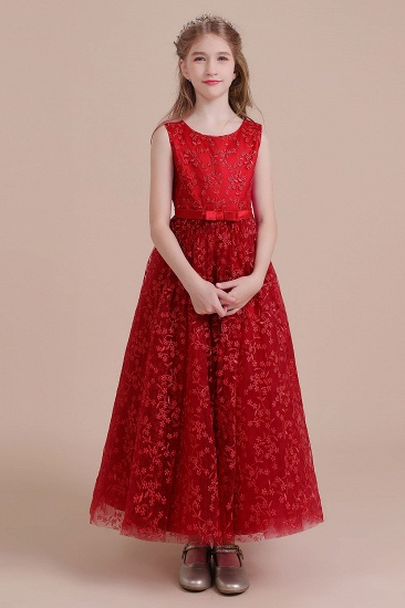 BMbridal A-Line Elegant Ankle Length Tulle Flower Girl Dress Online