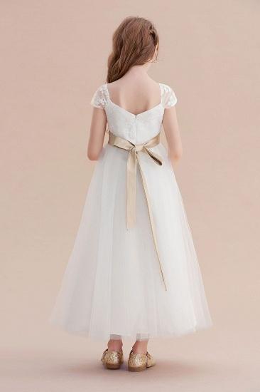BMbridal A-Line Cap Sleeve Sweetheart Tulle Flower Girl Dress Online_3