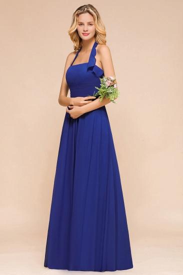 BMbridal Stylish Halter Backless Royal Blue Bridesmaid Dress Affordable with Ruffle_8