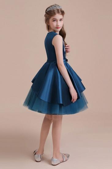 BMbridal A-Line Embroidered Satin Tulle Flower Girl Dress On Sale_9