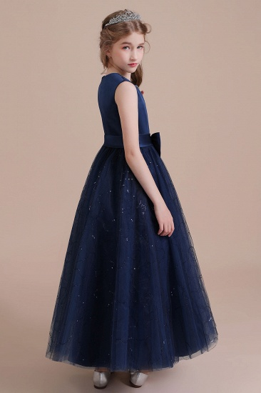 BMbridal A-Line Chic Bow Tulle Flower Girl Dress Online_6