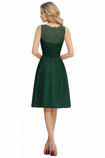 BMbridal A-line Chiffon Ruffle Bridesmaid Dress Sleeveless Lace Homecoming Dress_16