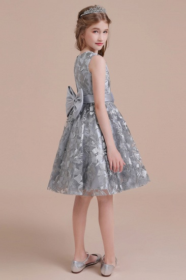 BMbridal A-Line Chic Bow Tulle Flower Girl Dress Online_9
