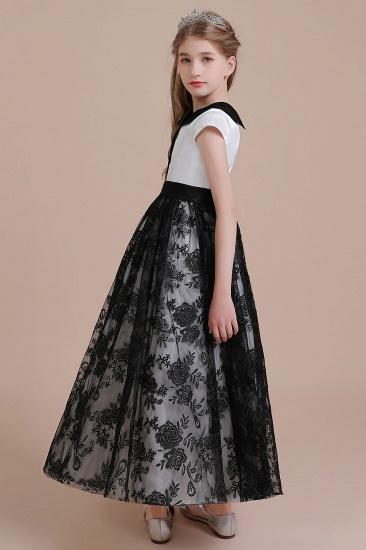 BMbridal A-Line Cute Lace Cap Sleeve Flower Girl Dress On Sale_4
