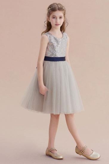 BMbridal A-Line Elegant Sequins Tulle Flower Girl Dress On Sale_5