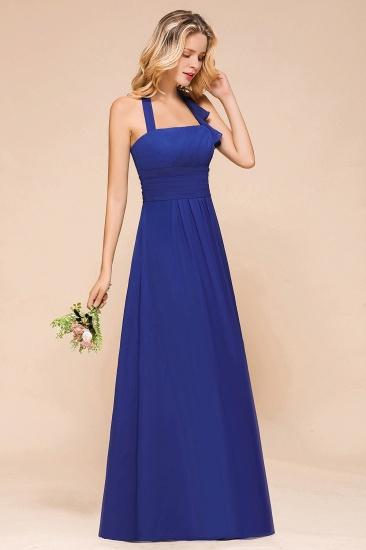 BMbridal Stylish Halter Backless Royal Blue Bridesmaid Dress Affordable with Ruffle_5