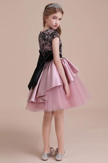 BMbridal A-Line Cap Sleeve Lace Tulle Knee Length Flower Girl Dress On Sale_8