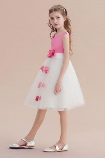 BMbridal A-Line Affordable Tulle Flower Girl Dress Online_3