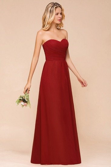 Gorgeous Sweetheart Strapless Rust Bridesmaid Dresses with Ruffle_6