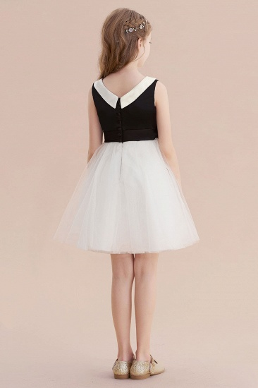 BMbridal A-Line Affordable Bow Tulle Flower Girl Dress On Sale_3