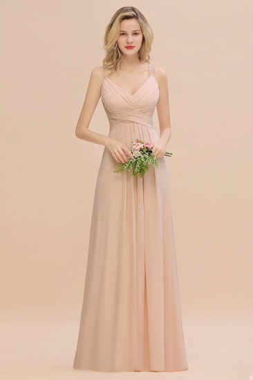 Open Back Bridesmaid Dress with Beaded Straps