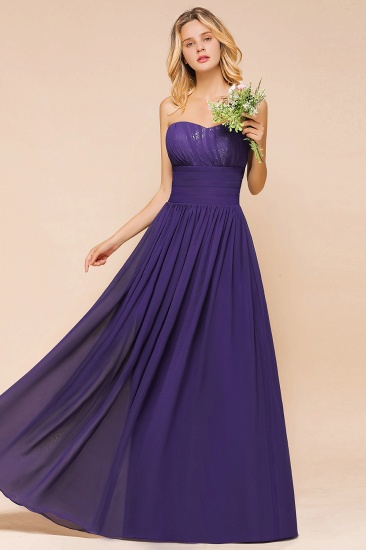BMbridal Affordable Sweetheart Sequins Regency Bridesmaid Dress with Pleats_6