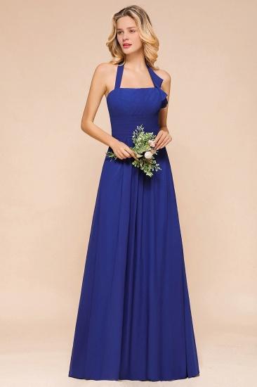 BMbridal Stylish Halter Backless Royal Blue Bridesmaid Dress Affordable with Ruffle_6