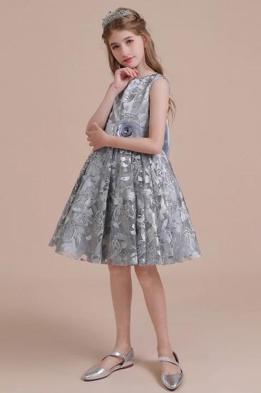BMbridal A-Line Chic Bow Tulle Flower Girl Dress Online_5