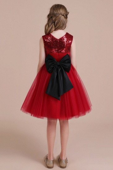 BMbridal A-Line Graceful Sequins Tulle Flower Girl Dress Online_3