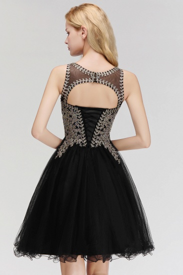 BMbridal A-line Tulle Lace Homecoming Dress with Beadings_5