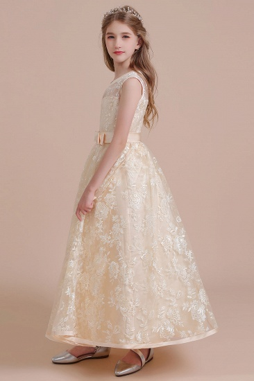 BMbridal A-Line Amazing Lace Tulle Flower Girl Dress Online_7