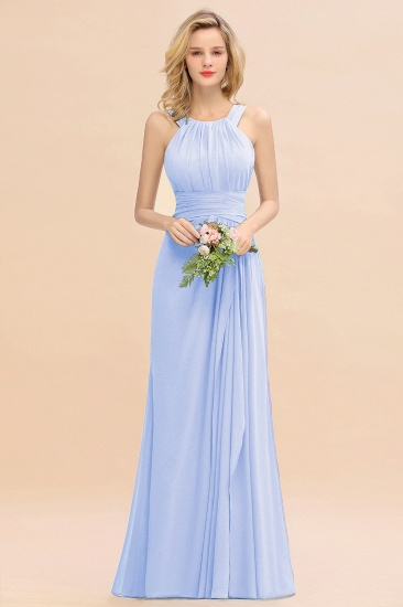Elegant Round Neck Sleeveless Stormy Bridesmaid Dress with Ruffles_22