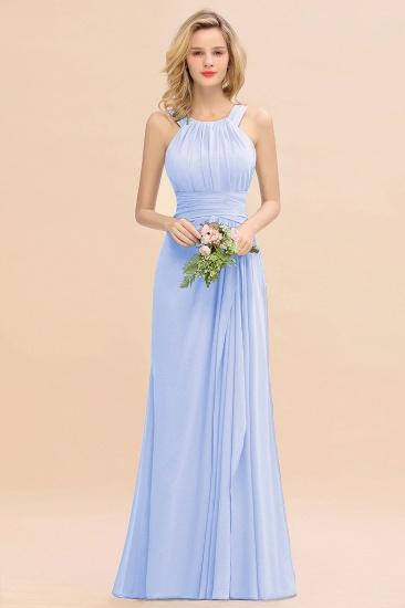 BMbridal Elegant Round Neck Sleeveless Stormy Bridesmaid Dress with Ruffles_22