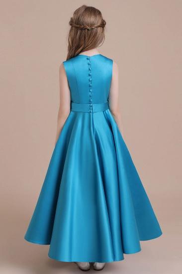 BMbridal A-Line Awesome Satin Flower Girl Dress Online_3