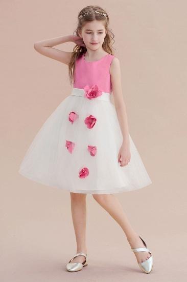 BMbridal A-Line Affordable Tulle Flower Girl Dress Online_6