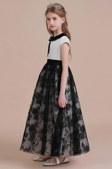 BMbridal A-Line Cute Lace Cap Sleeve Flower Girl Dress On Sale_5