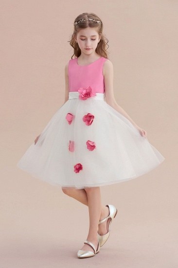 BMbridal A-Line Affordable Tulle Flower Girl Dress Online_5