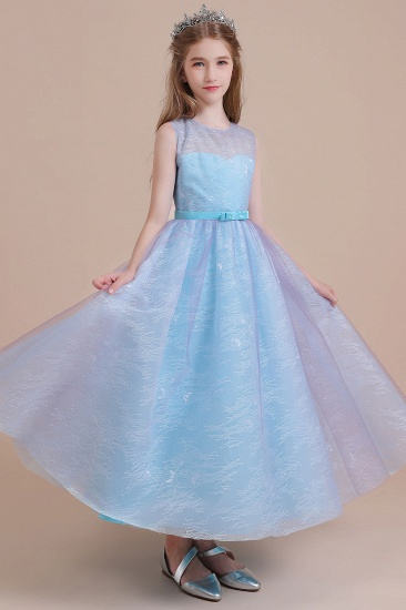 BMbridal A-Line Illusion Lace Tulle Flower Girl Dress Online_7