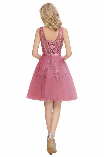 BMbridal Elegant V-Neck Sleeveless Short Prom Dress Mini Homecoming Dress With Lace Appliques_20