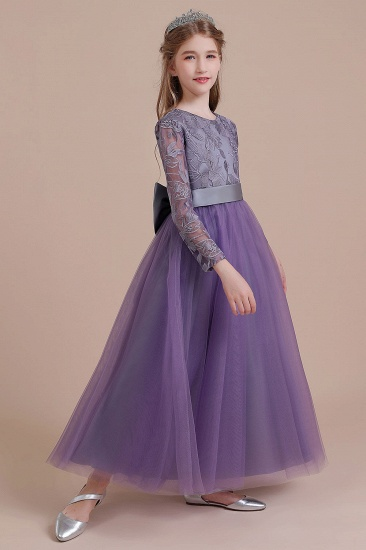 BMbridal A-Line Long Sleeve Ankle Length Flower Girl Dress On Sale_7