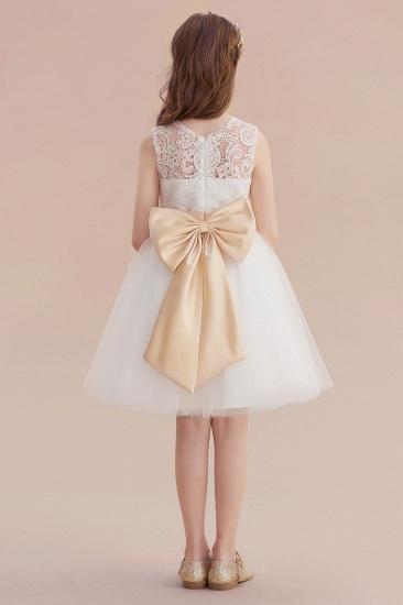 BMbridal A-Line Lace Tulle Knee Length Dress Flower Girl Dress Online_3