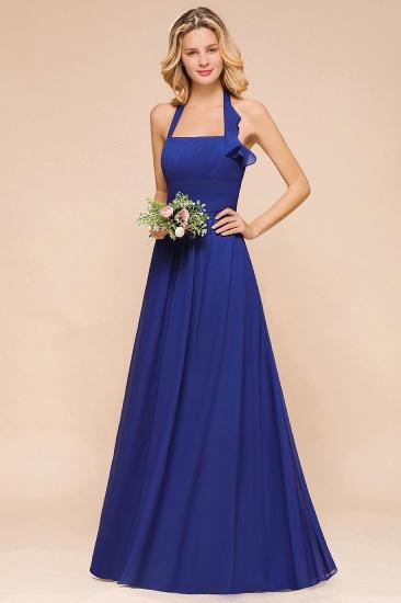 BMbridal Stylish Halter Backless Royal Blue Bridesmaid Dress Affordable with Ruffle_7