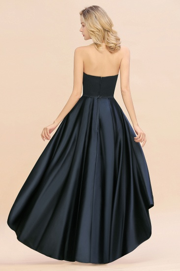 BMbridal Affordable Hi-Lo Strapless Satin Bridesmaid dresses Online_3