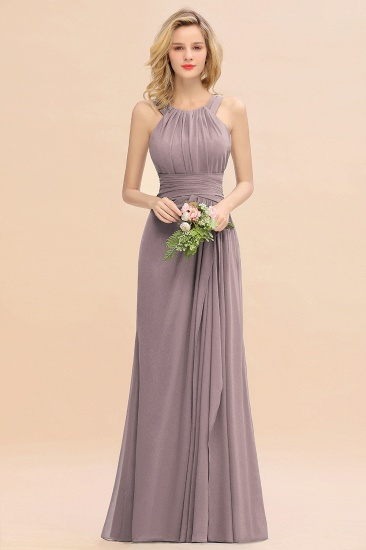 BMbridal Elegant Round Neck Sleeveless Stormy Bridesmaid Dress with Ruffles_37